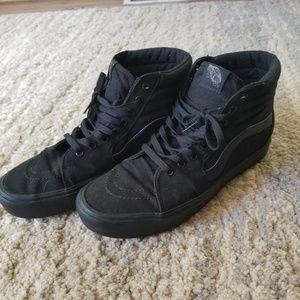 Men's Vans Sk8-Hi Lite Black Canvas Shoes